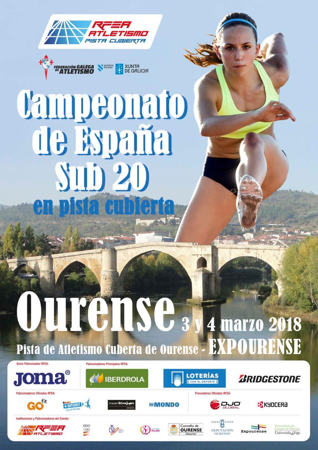 XLV Campionato de España Sub20 en Pista Cuberta