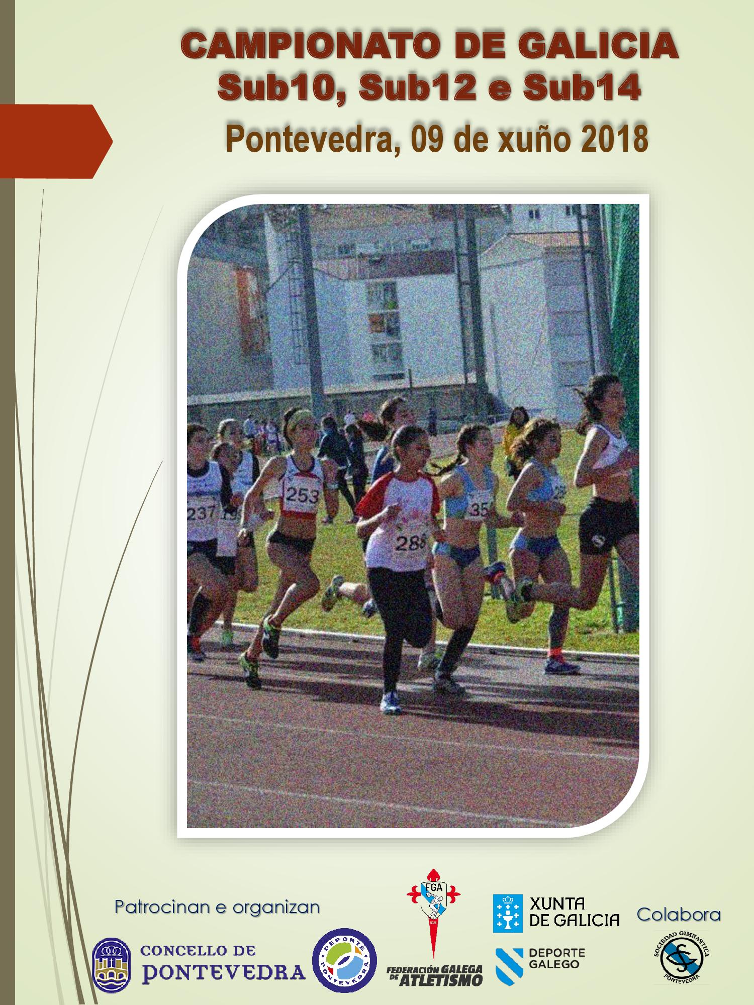 Campionato de Galicia Sub10 (BEN) – Sub12 (ALE) – Sub14 (INF) 2017/2018