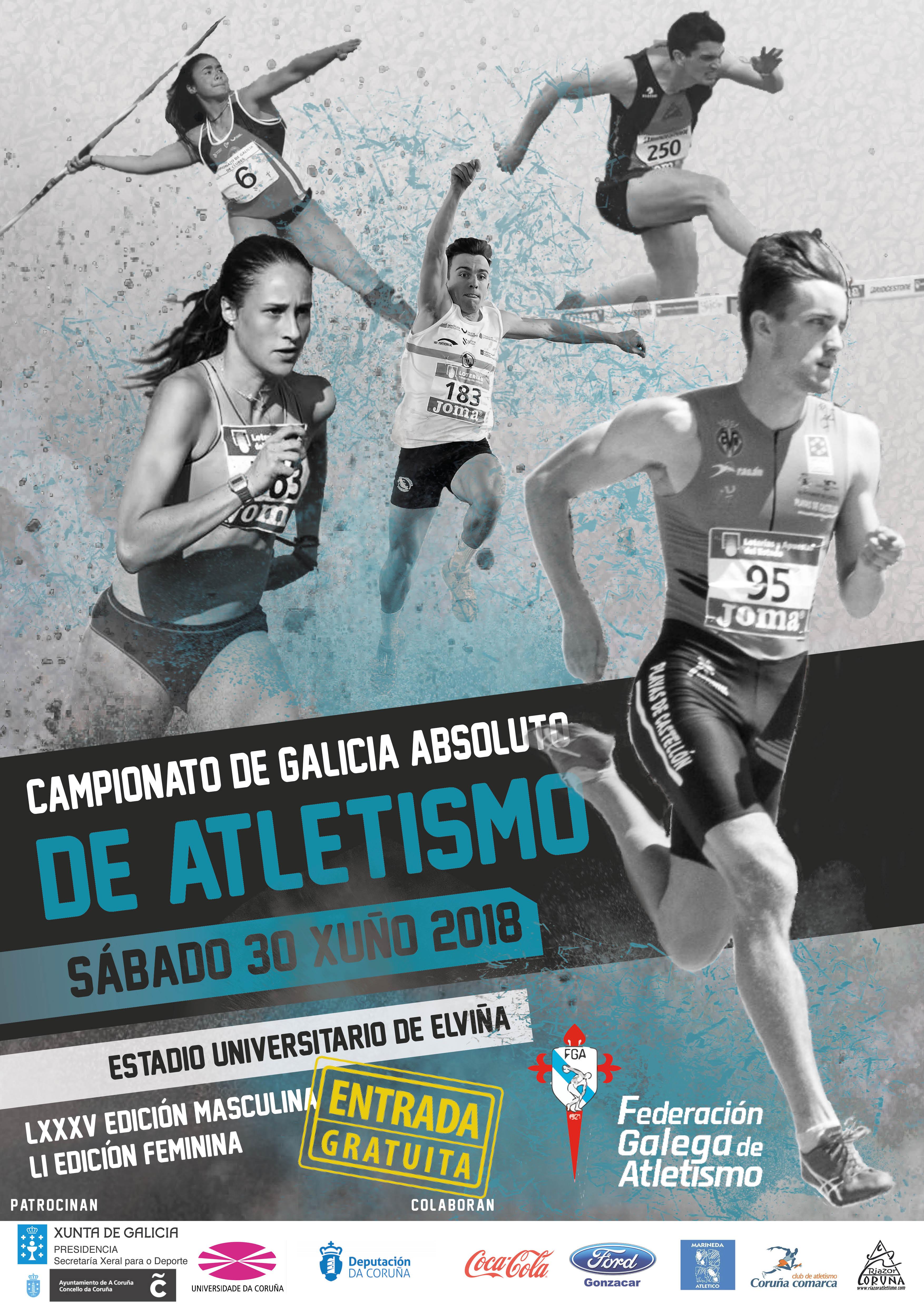LXXXV Campionato de Galicia Absoluto Masculino – LI Campionato de Galicia Absoluto Feminino en Pista ao Aire Libre