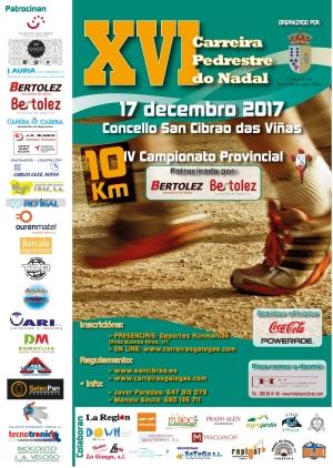 XVI Carreira Pedestre do Nadal San Cibrao das Viñas – Campionato Provincial 10 Km. en Ruta
