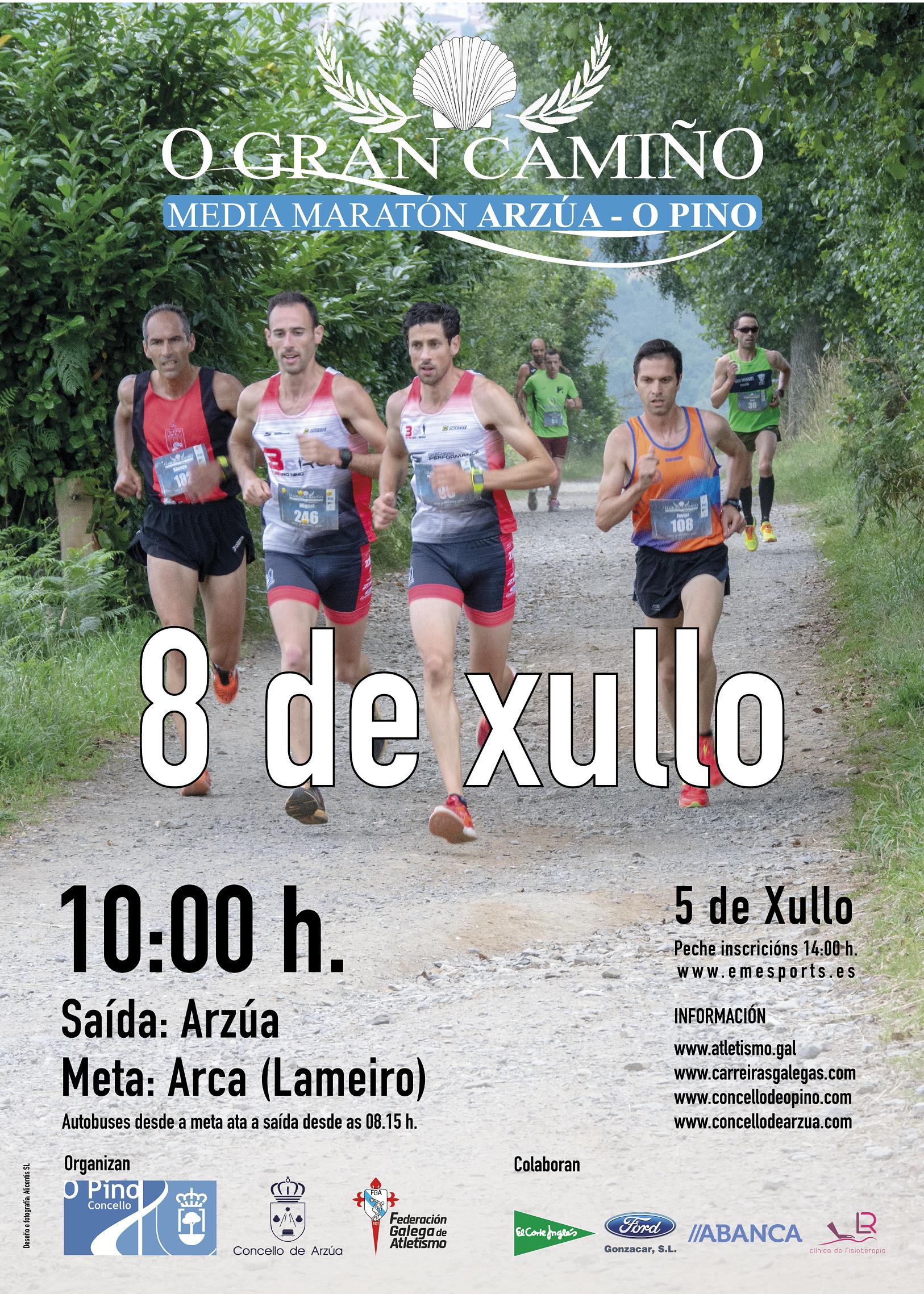 Medio Maratón O Gran Camiño Arzúa – O Pino 2018