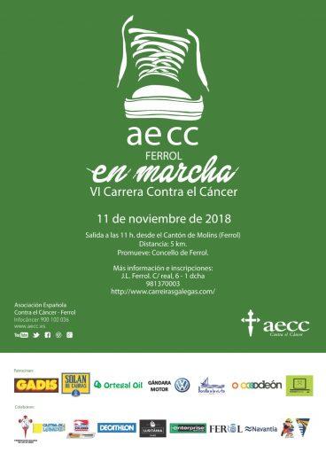 AECC en Marcha – Corre conta o Cancro – Corre por Ferrol 2018