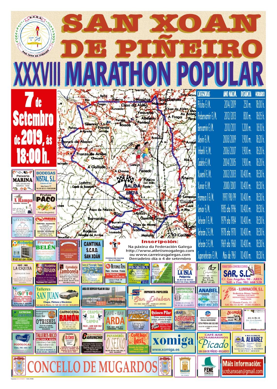 XXXVIII Maratón Popular San Xoán de Piñeiro