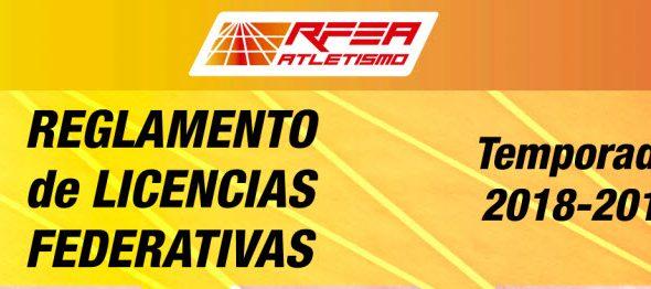 Cotas das licenzas RFEA 2018/2019