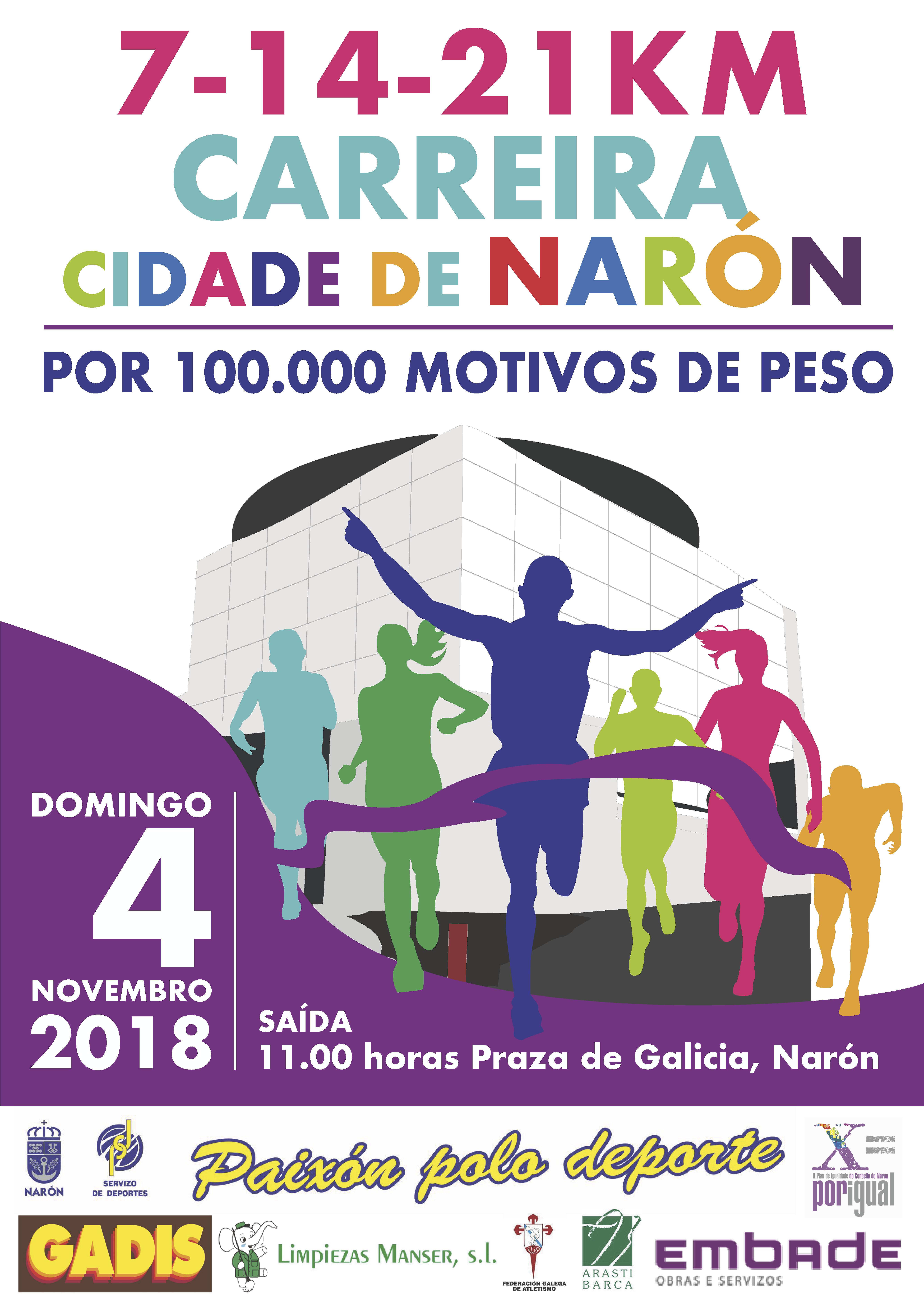 Carreira Cidade de Narón 7 – 14 – 21 Km.
