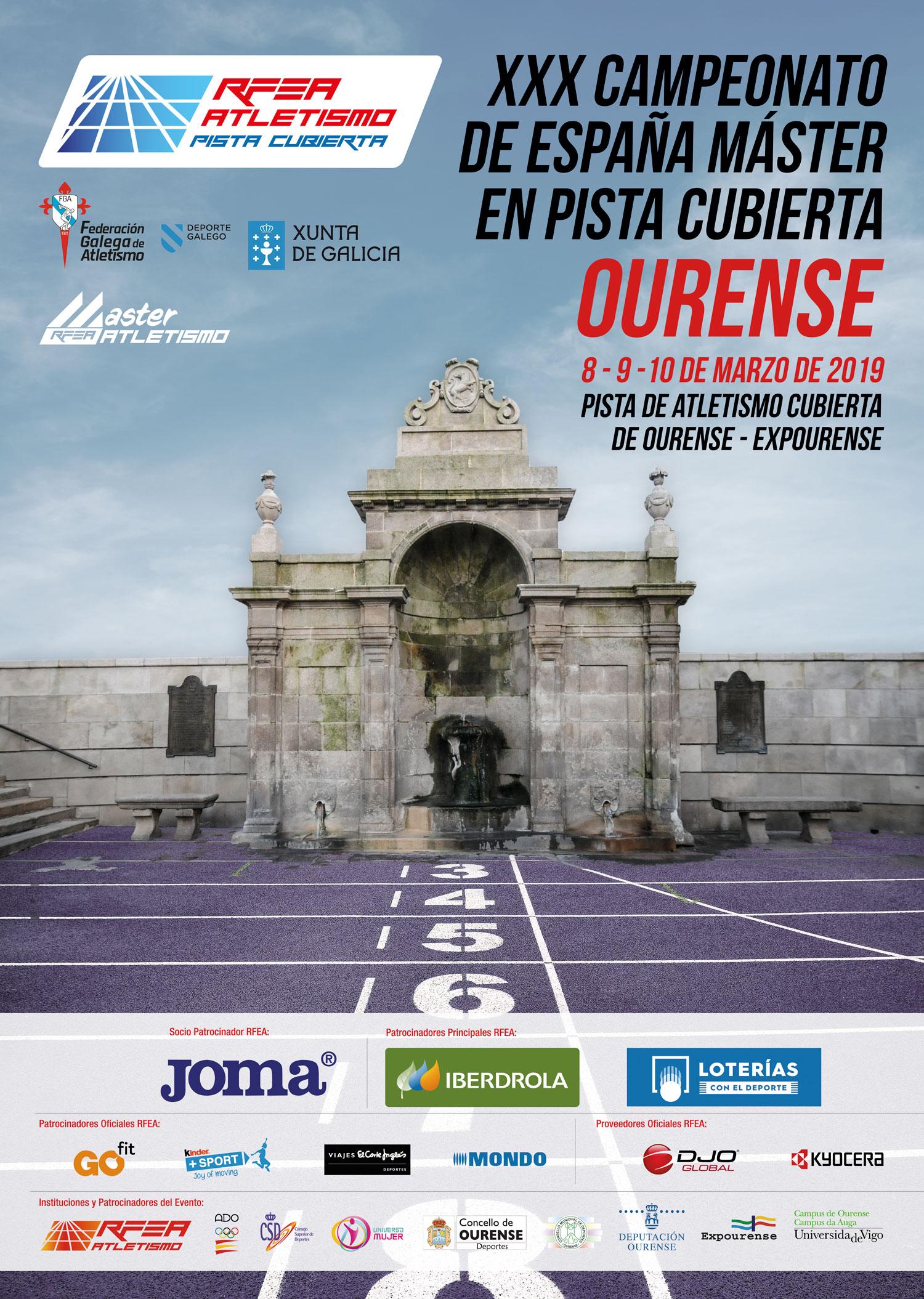 XXX Campionato de España Máster en Pista Cuberta