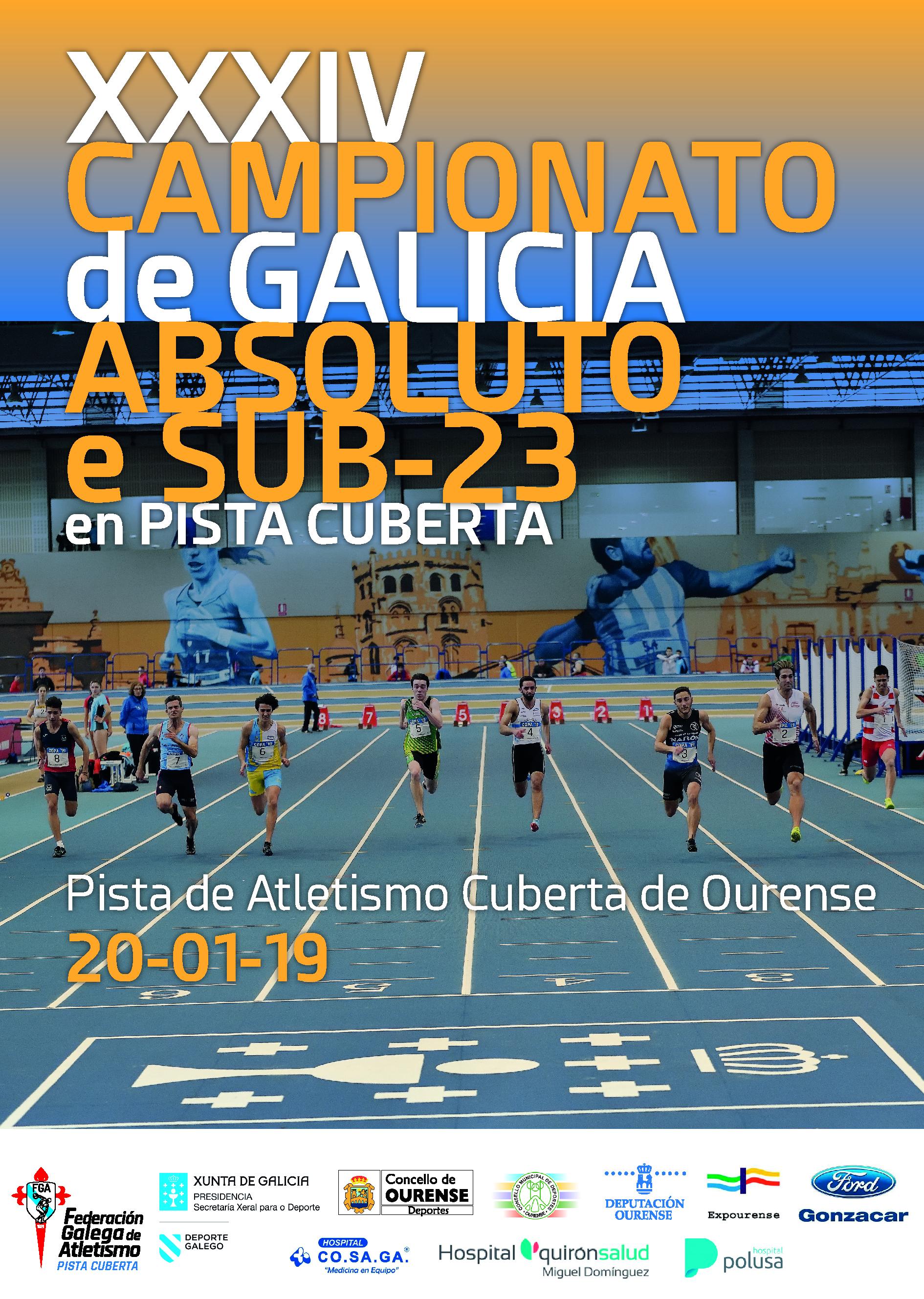 XXXIV Campionato de Galicia Absoluto – Sub23 en Pista Cuberta