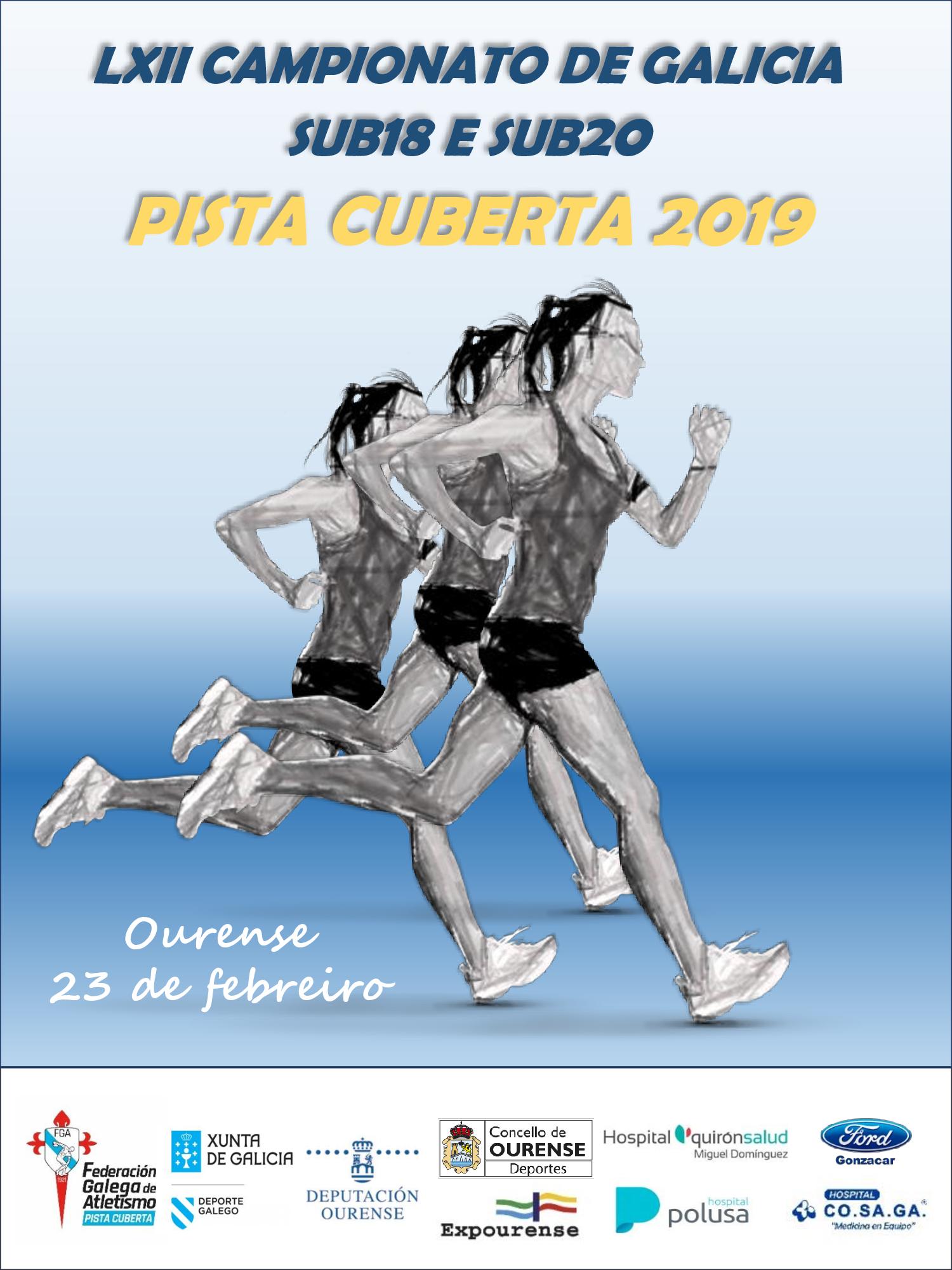 LXII Campionato de Galicia Sub18 – Sub20 en Pista Cuberta
