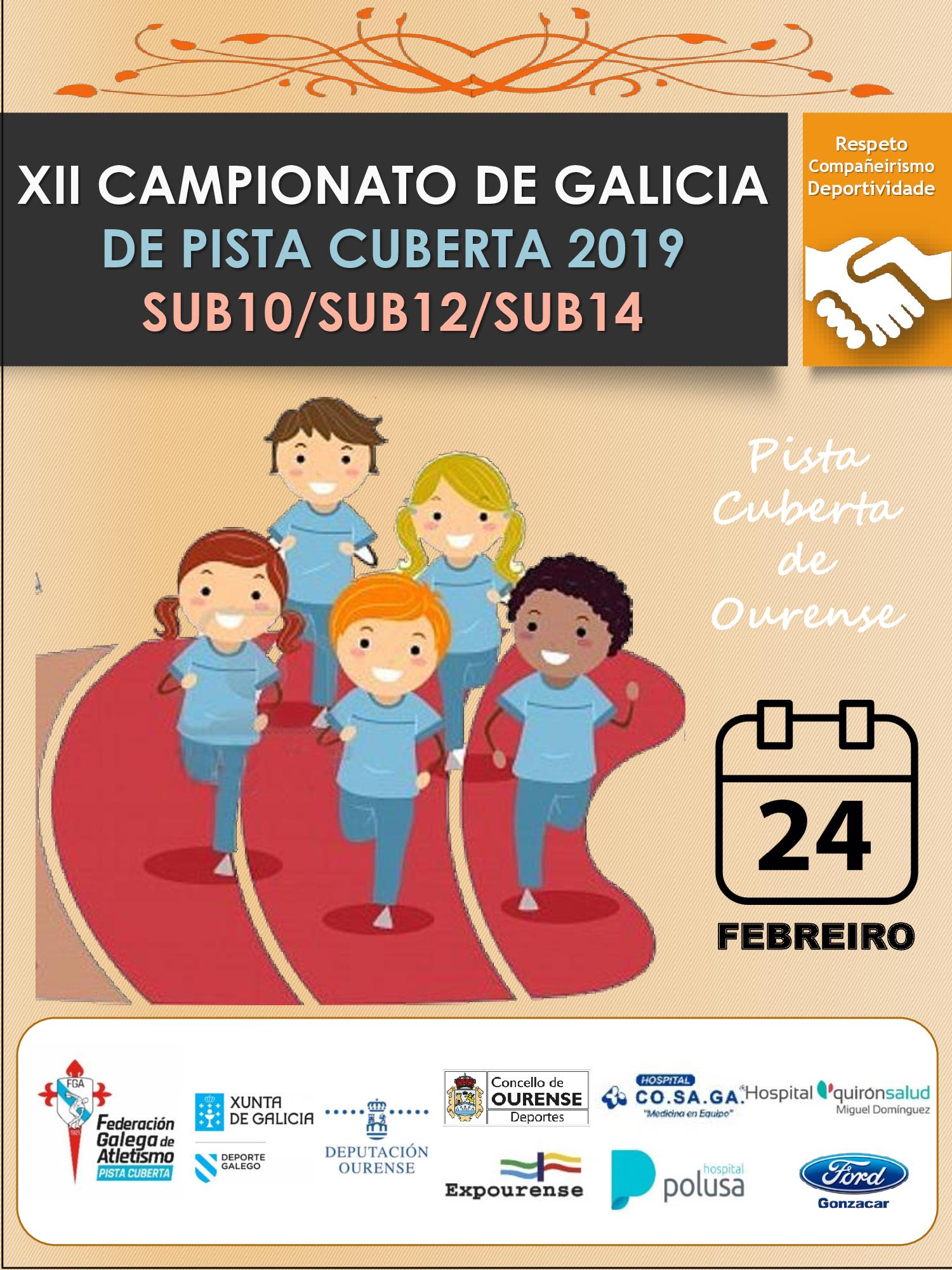 XII Campionato de Galicia Sub10 – Sub12 – Sub14 en Pista Cuberta