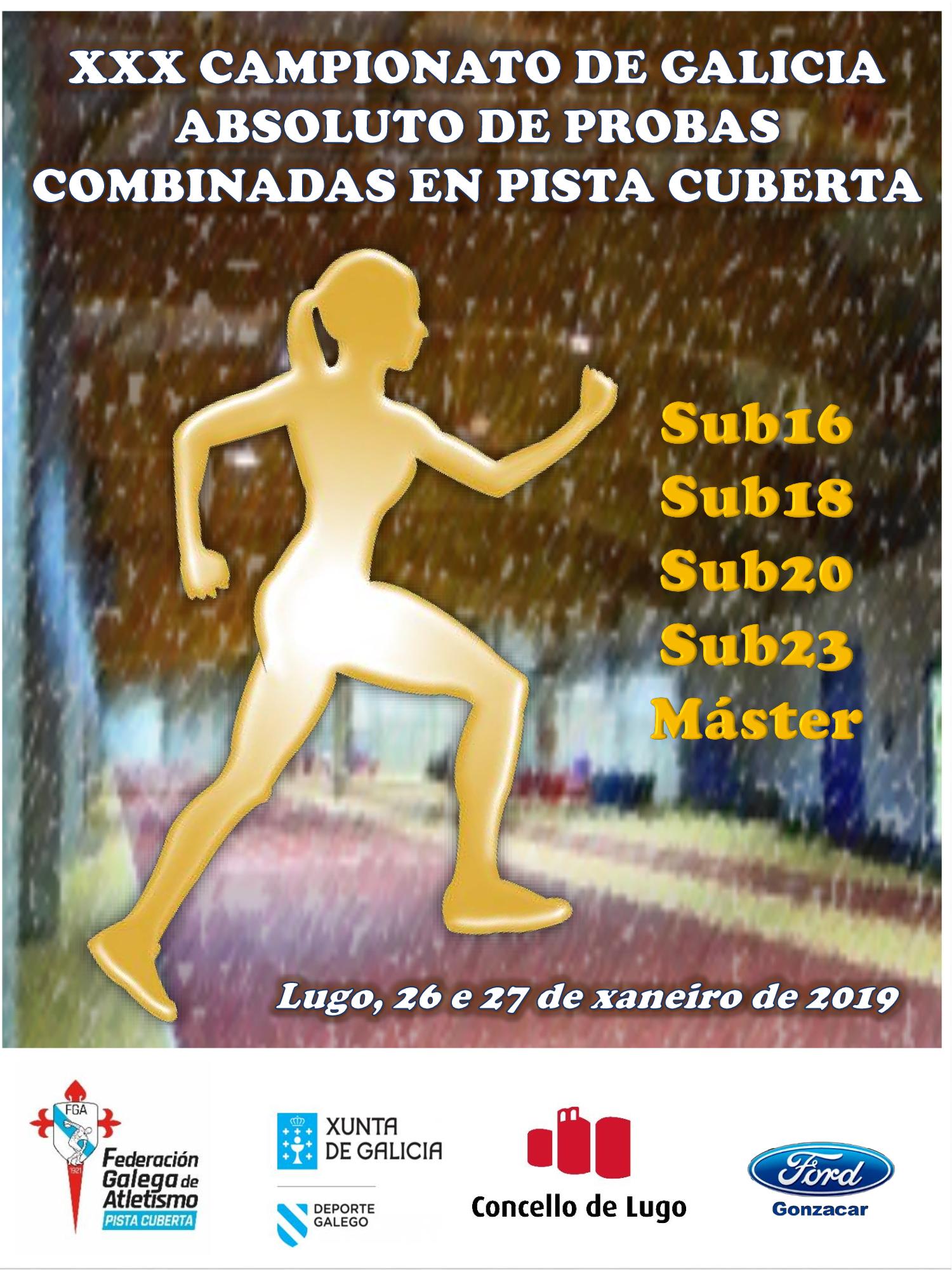 XXX Campionato de Galicia de Probas Combinadas en Pista Cuberta – XV Máster