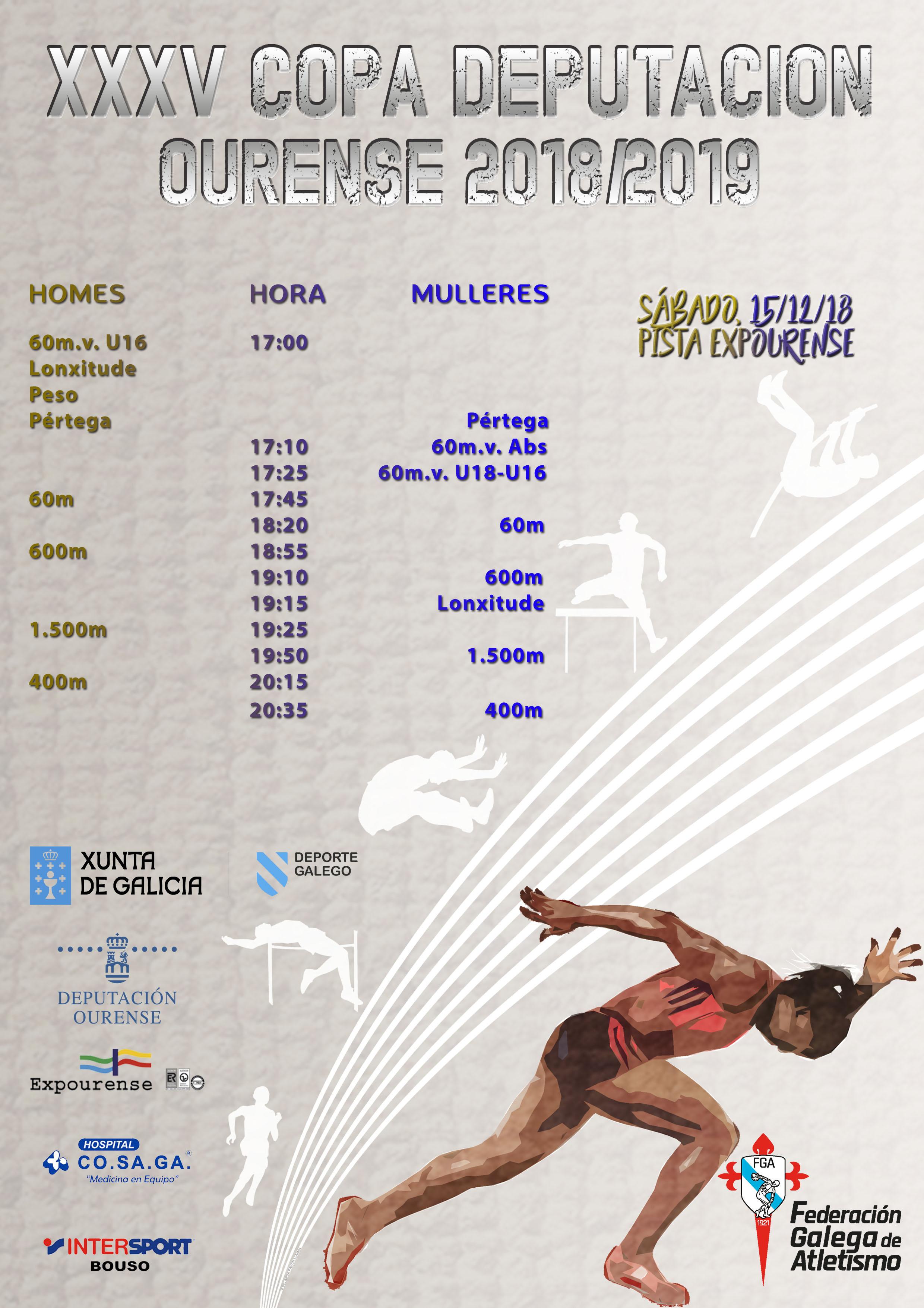 XXXV Copa Deputación Ourense Atletismo – 1ª Xornada