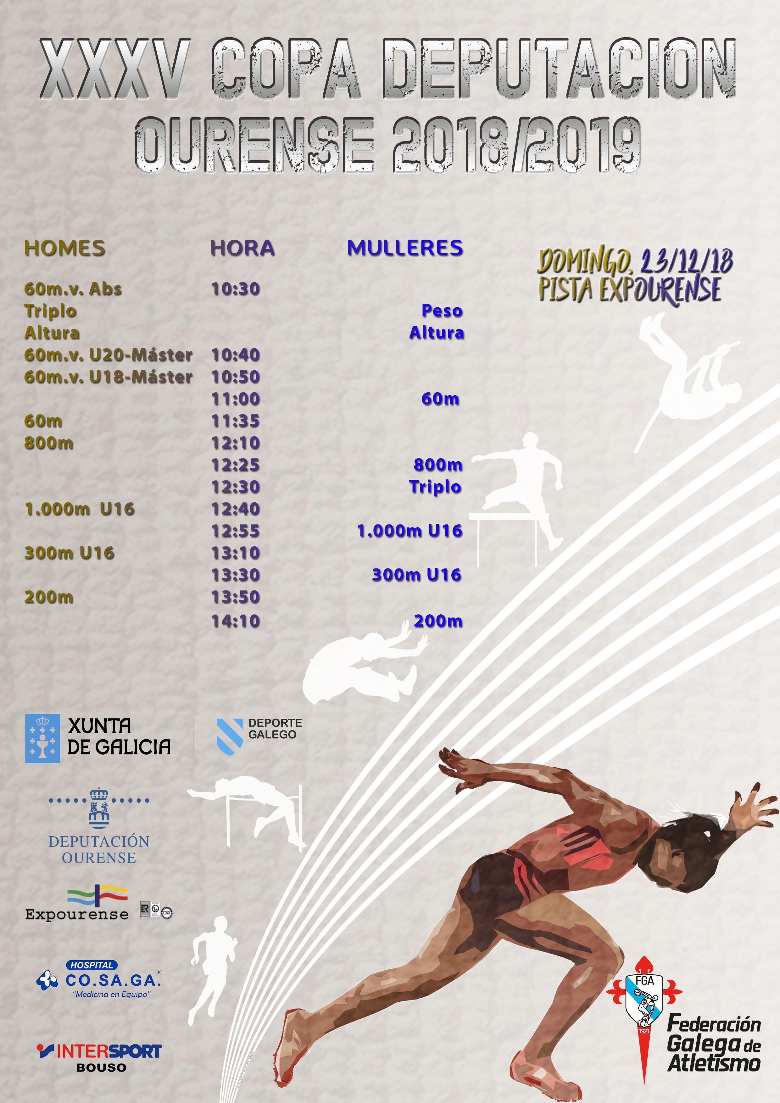 XXXV Copa Deputación Ourense Atletismo – 2ª Xornada