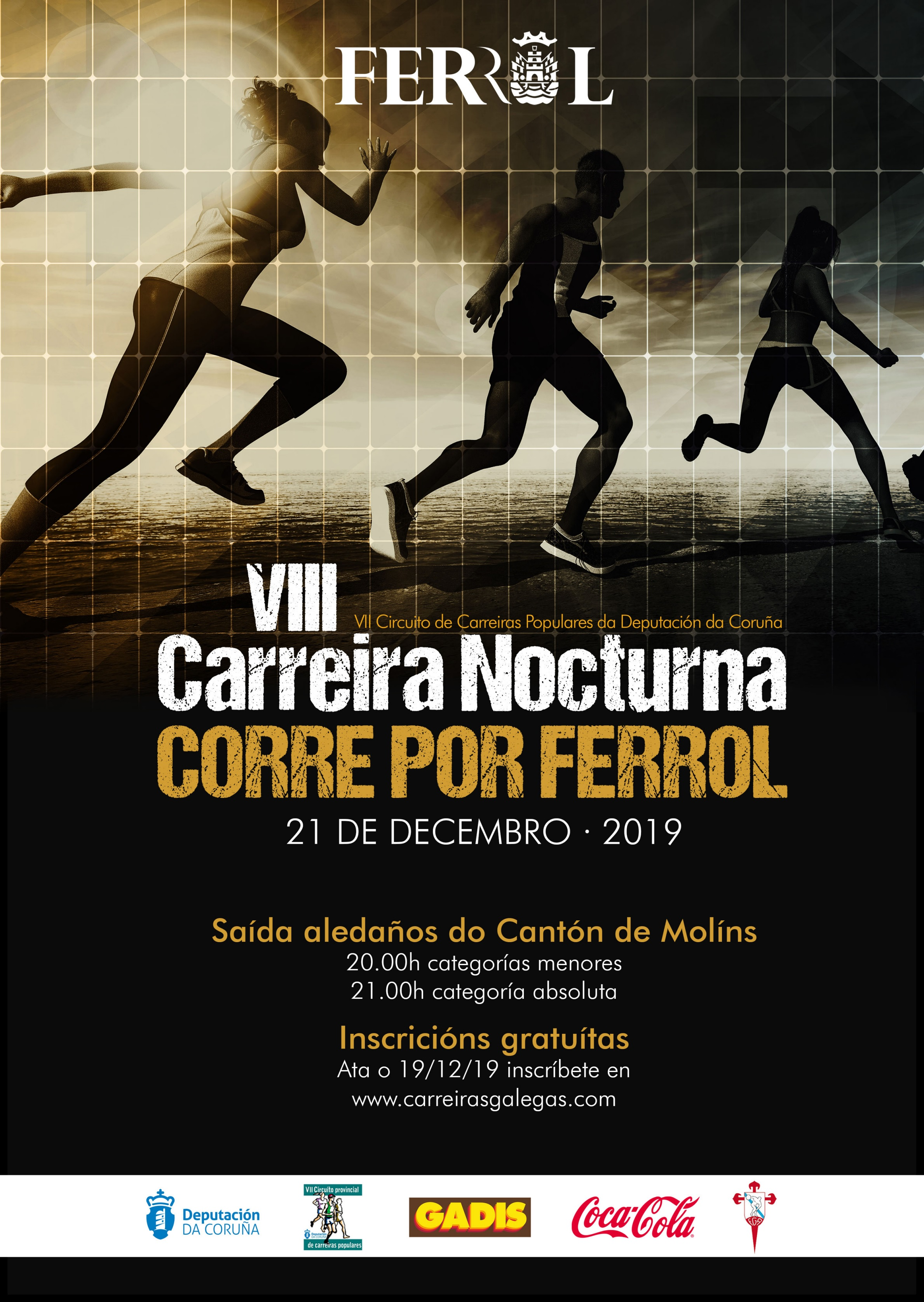 VIII Carreira Nocturna Corre por Ferrol – APRAZADA