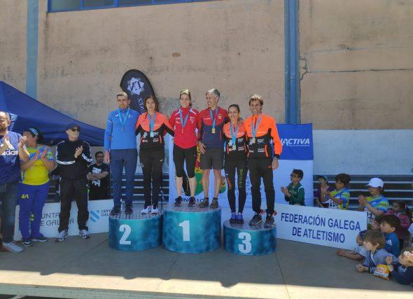Iria Fernández e Rubén Diz dominaron o galego dos 10 km.