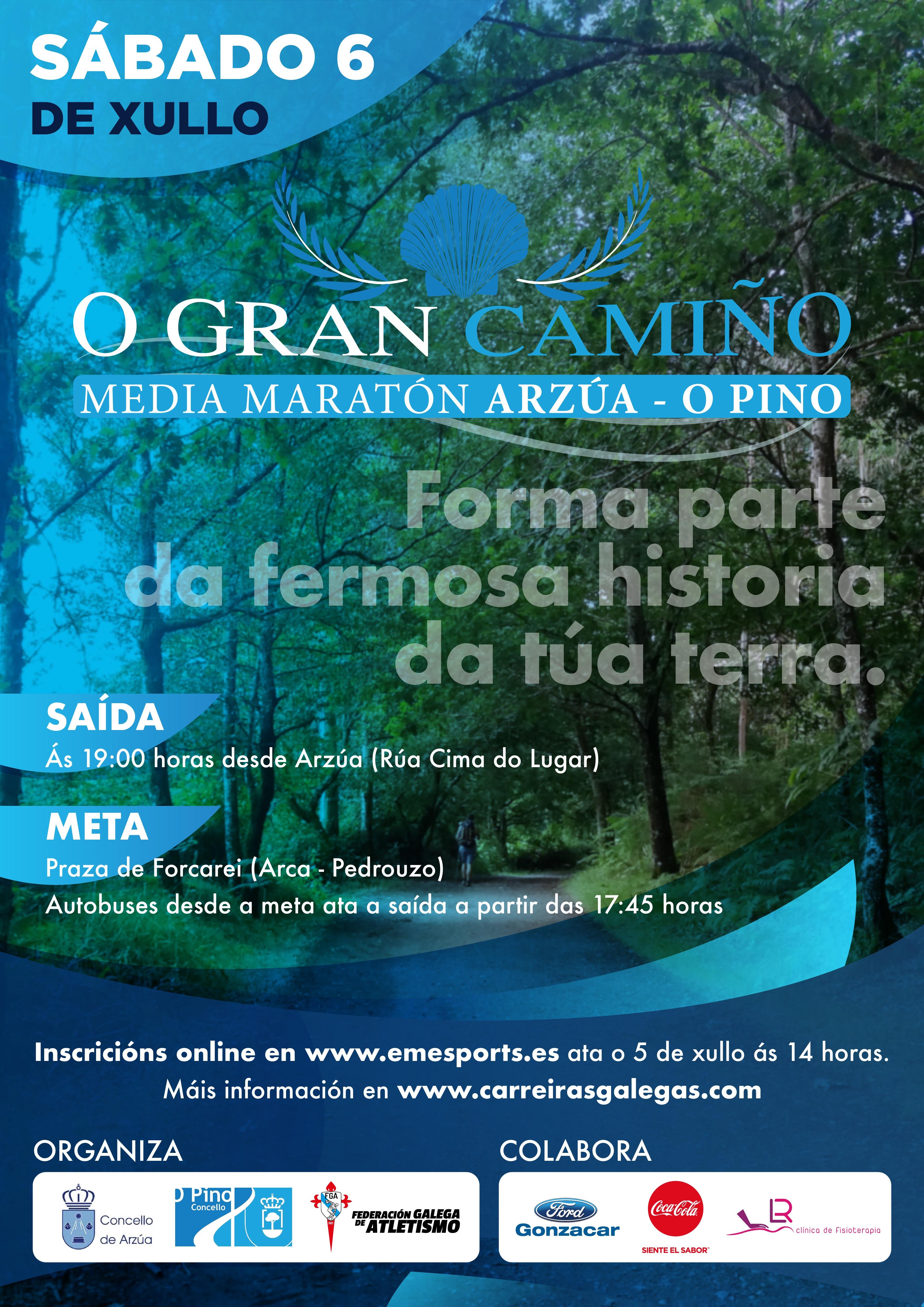 III Edición do  Medio Maratón O Gran Camiño Arzúa – O Pino 2019