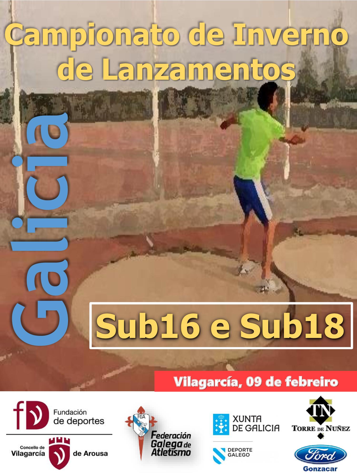 Campionato de Galicia de Inverno de Lanzamentos de Menores 2020 (Sub 16 e Sub 18)