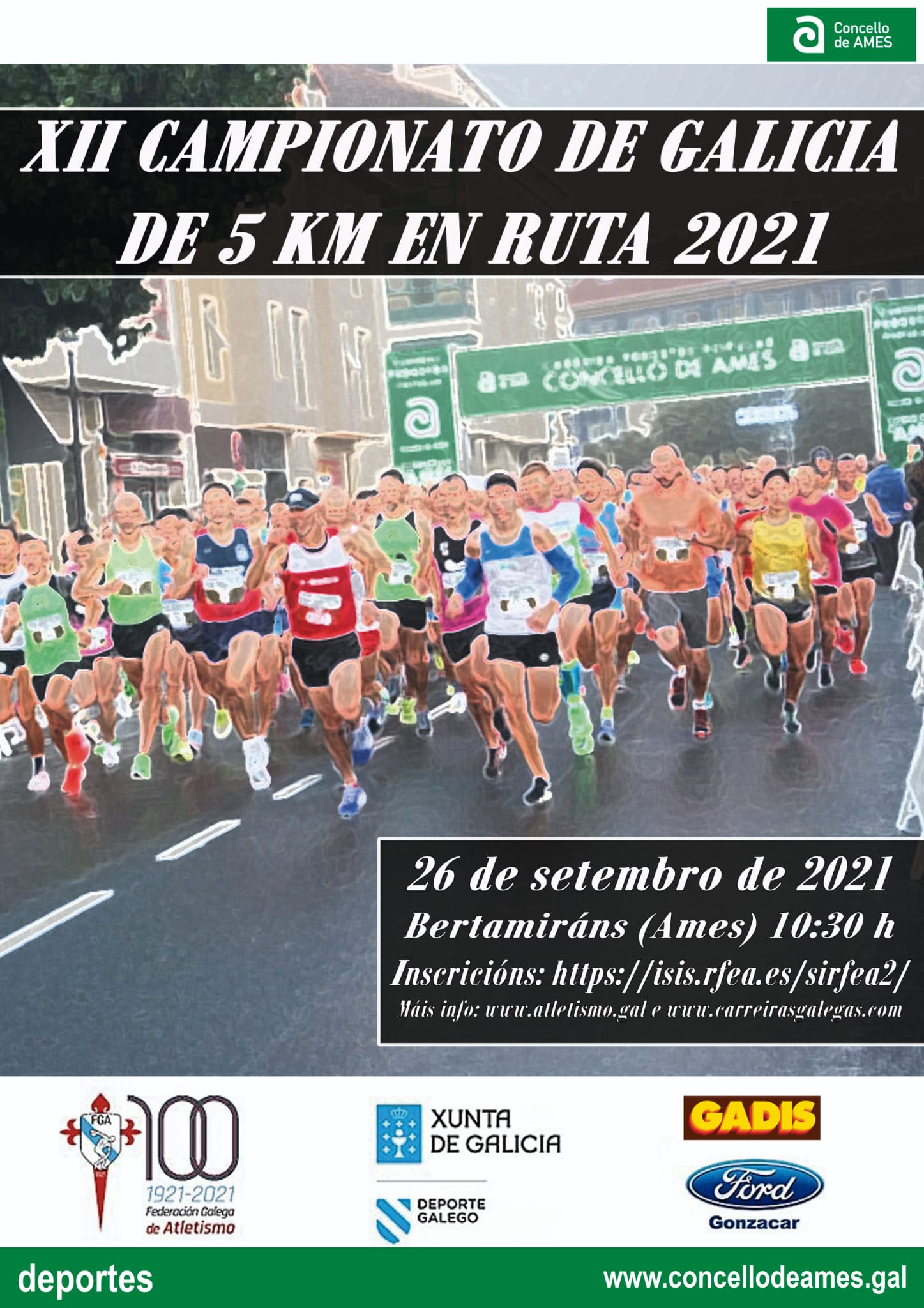 XI Campionato de Galicia Absoluto de 5Km Ruta e das Categorías Sub 18, Sub 20, Sub 23 e Máster