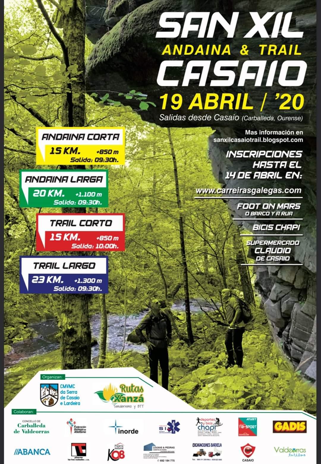 San Xil – Casaio Andaina & Trail 2020 – APRAZADA
