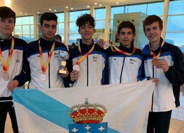 A selección galega de marcha á procura do nacional