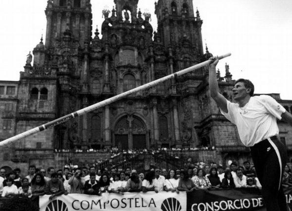 Cando Bubka foi peregrino en Compostela