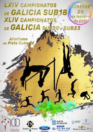 LXIV Campionato de Galicia Sub18 – XLIV Sub20 – Sub23 en Pista Cuberta