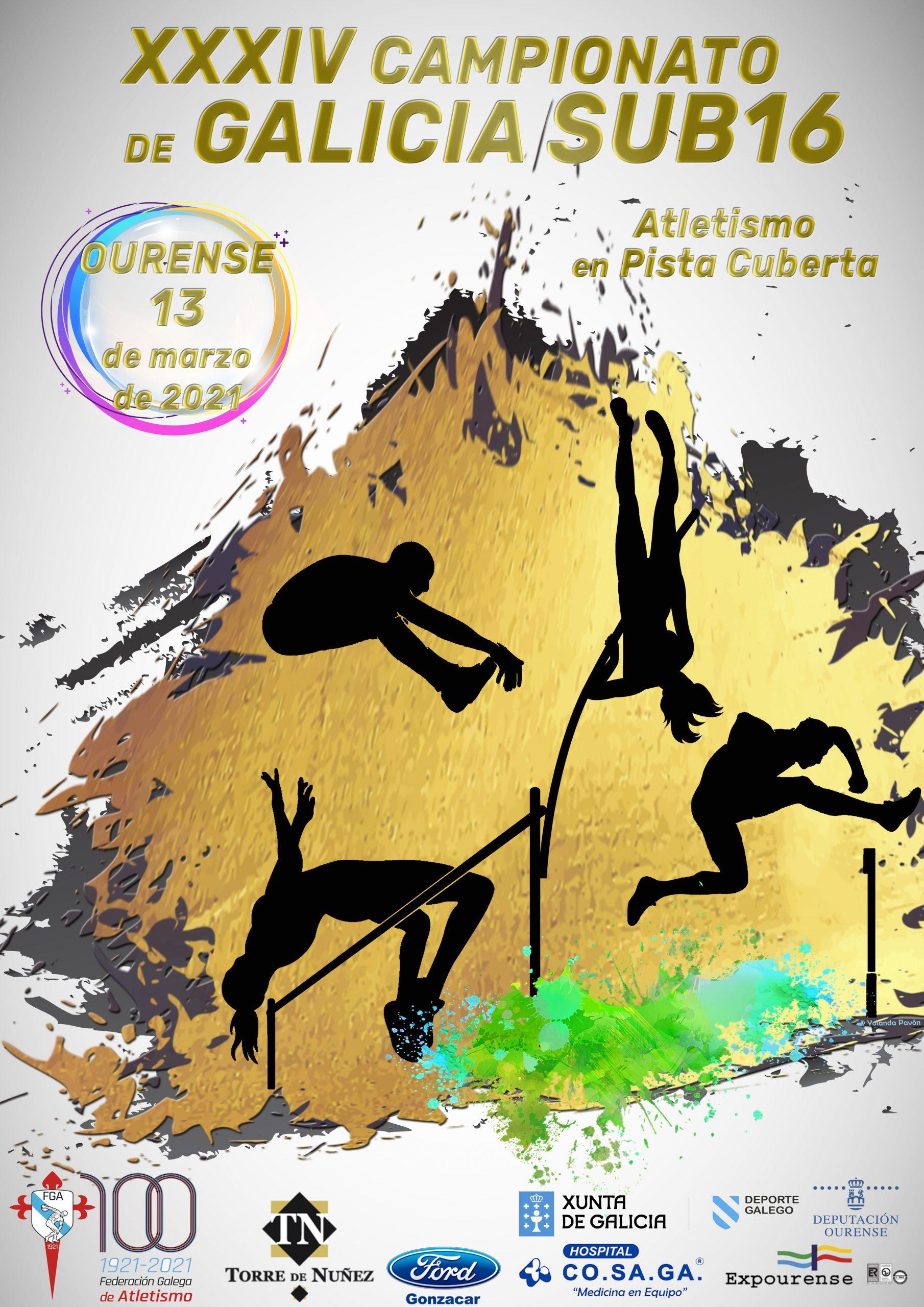 XXXIV Campionato de Galicia Sub16 + Control Sub10,12,14 pista cuberta