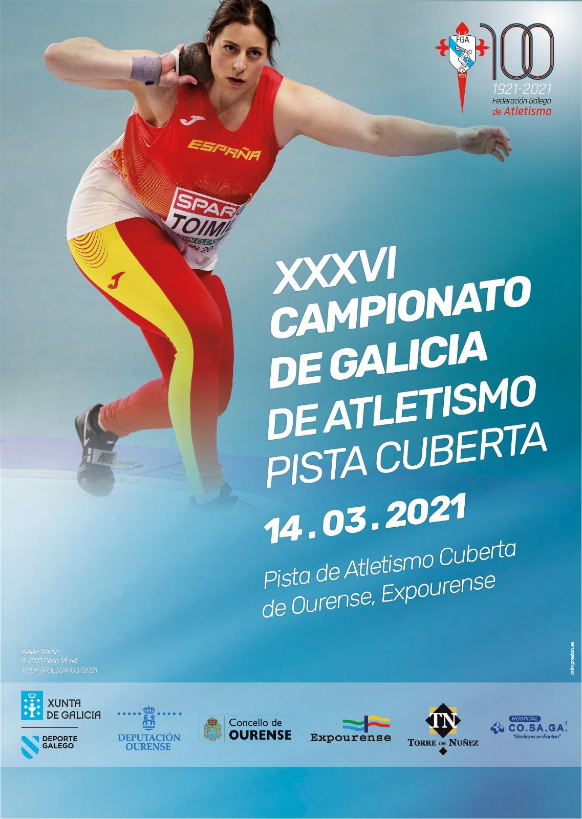 Belén Toimil foi a imaxe promocional do XXXVI Campionato de Galicia de Atletismo en PIsta Cuberta / FGA