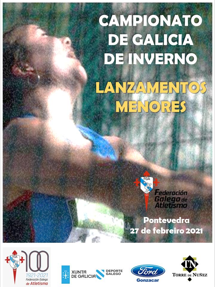 Campionato de Galicia de Inverno de Lanzamentos de Menores (Sub 16 e Sub 18)