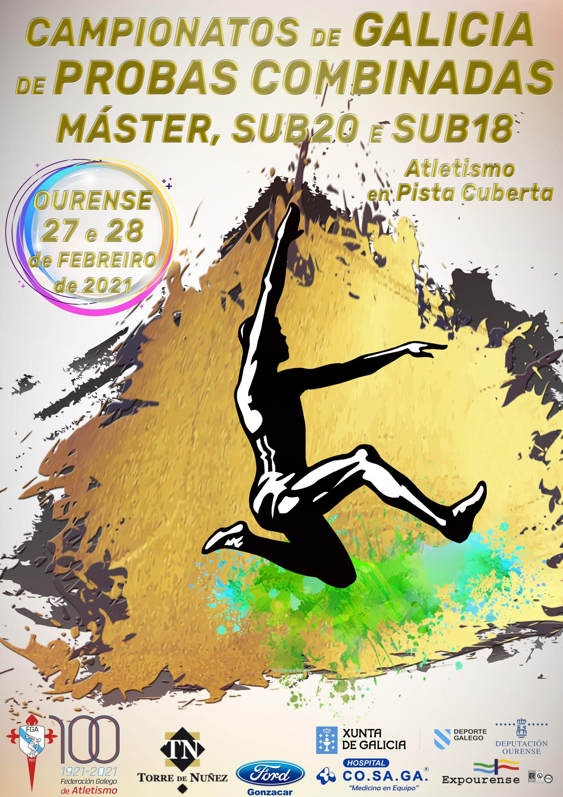 Campionato de Galicia de Probas Combinadas Máster – Sub20 – Sub18 en Pista Cuberta 2021