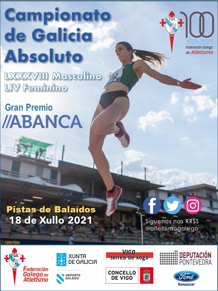 LXXXVIII Campionato de Galicia Absoluto Masculino – LIV Campionato de Galicia Absoluto Feminino ao Aire Libre