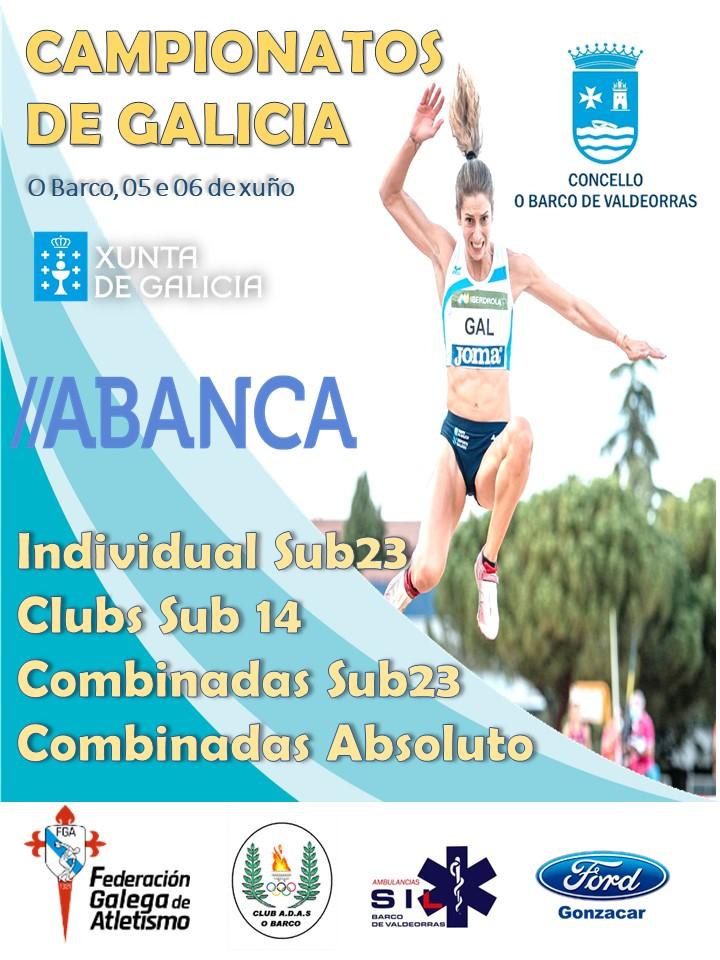 Campionato Xunta de Galicia Sub23 en Pista ao Aire Libre 2021