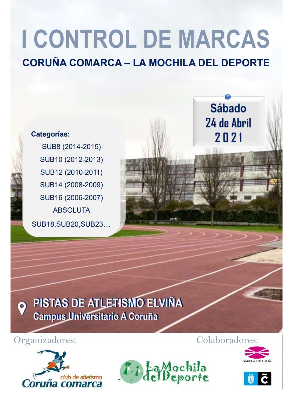 I Control de Marcas Coruña Comarca – La Mochila del Deporte 2021