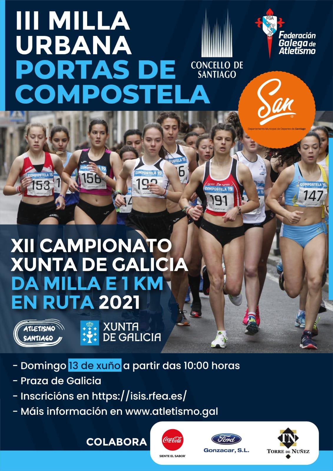 XII Campionato Xunta de Galicia de Milla en Ruta 2021 e Cto. Xunta de Galicia de 1Km